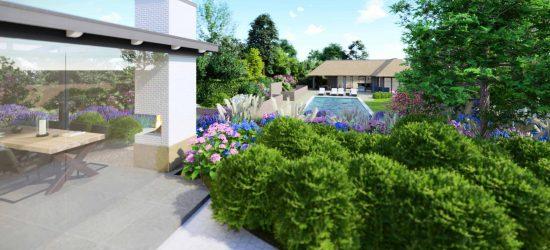 3D Visualisaties Tuinontwerp zwembad